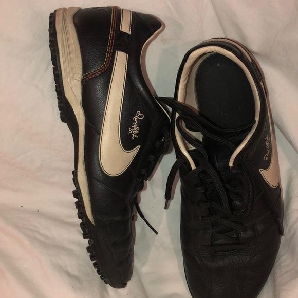 b9b5605ab Nike Shoes | Vintage Ronaldinho R10 Leather Turf Soccer | Poshmark